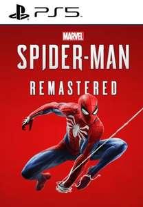 Marvel's Spider-Man Remastered [PS5] UK / Europe PSN accounts - £21.69 using code @ Eneba / GamStop