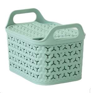 Strata Urban Small Basket Green/Grey With Lid £2/ £5 ( Min Spend / Delivery Fee applies) @ Tesco