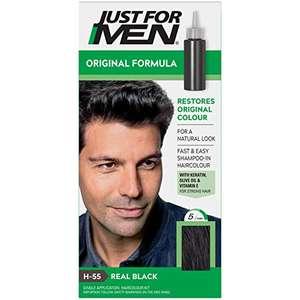 Just for men Original Formula Real Black Hair Dye - H55- £4.32 (+£4.49 Non Prime) @ Amazon