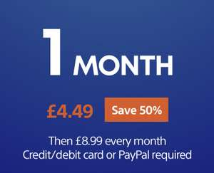 1 Month PlayStation Now subscription - £4.49 @ Playstation Store