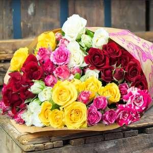 50 Roses for Mother's Day - £16.99 Delivered @ Home Bargains
