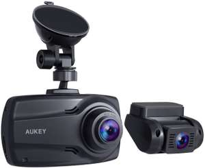 AUKEY Dual Dash Cams 1080p full HD front and rear cameras for £59.99 delivered with code - Sold by MingXi Eu and Fulfilled by Amazon
