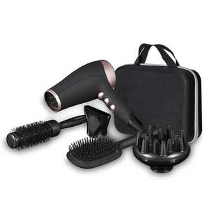CARMEN NOIR Hairdryer Gift Set With a Paddle Brush and Radial Brush Included £18.94 delivered @ TJ Hughes