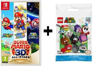 Nintendo Switch Super Mario 3D All-Stars £36.99 delivered + Free LEGO Super Mario 71386 Character Pack @ Smyths