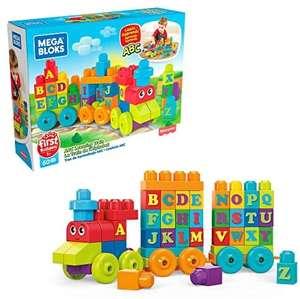 Mega Bloks DXH35 Building Basics ABC Learning Train - £7.98 Prime (+ £4.49 NP) @ Amazon