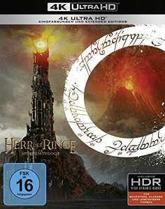 The Lord of The Rings Trilogy: [Theatrical/Extended Edition] [4KUltra HD] [Region Free] (German) £44.15 (UK Mainland) by Amazon EU @ Amazon