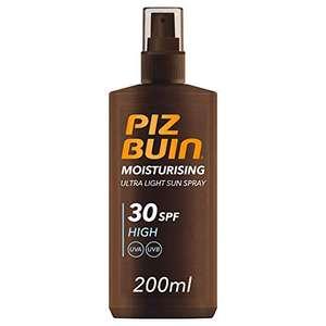 Piz Buin Moisturising Ultra Light Sun Spray SPF30, 200 ml £3.38 / £3.21 S&S (Prime) + £4.49 (non Prime) at Amazon