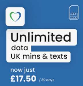 Lycamobile (o2 4G) Unlimited data/Mins/texts PAYG 30 day bundle £17.50 @ Lycamobile