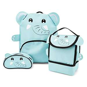 Childrens Boys Girls Animal Backpack, Lunch Bag & Pencil Case Set - £8.97 (+£4.49 Non-Prime) @ Amazon