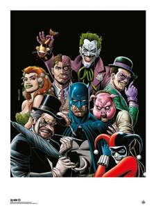 Batman: Giclee Print: Rogues Gallery Homage - 300gms smooth cotton (Colour) Signed by: Brian Bolland £20.49 delivered @ Forbidden Planet