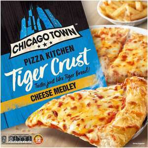 Chicago Town Tiger Crust Pizza (Cheese / Pepperoni / Cheesy Ham & Bacon) £1.50 (Min Spend / Delivery Fee Applies) @ Asda