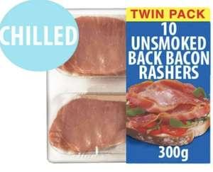 10 Unsmoked Back Bacon Rashers, 300g - 89p @ Farmfoods