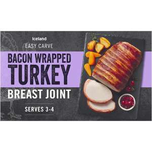 Iceland Bacon Wrapped Basted Turkey Breast Joint 525g - 2 for £2.00 (Min Spend / Delivery Fee Applies) @ Iceland