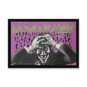DC Comics Welcome To The Asylum Entrance Mat Joker / Arkham Asylum Entrance Mat £8.99 with code (Free Del for Red Carpet or £1.99) @ Zavvi