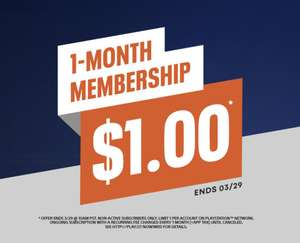 1 Month PlayStation NOW Membership for $1 (appox 72p) - New accounts only @ PlayStation PSN US