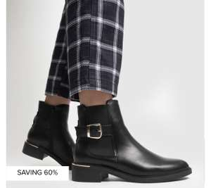 schuh black caitlin buckle detail chelsea boots £9.99 + £3 delivery @ Schuh