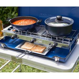 Campingaz Folding Double Burner and Grill Stove £32.95 + £6.50 Delivery @ Calor Gas Heaters