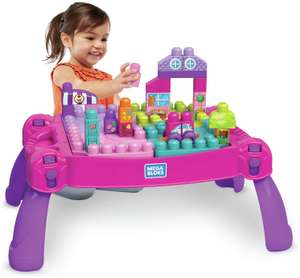 Mega Bloks Build n Learn Table – Pink £16.50 (Click & Collect) @ Argos