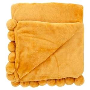 Tesco Pom Pom Fleece Throw for £3.50 @ Tesco Galashiels