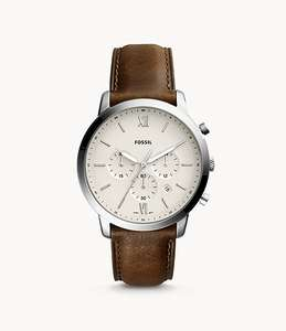 Neutra Chronograph Brown Leather Watch £83 Delivered (UK Mainland) @ Fossil