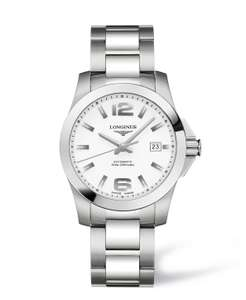 Longines Conquest Men's Automatic White Dial Stainless Steel Bracelet Watch £780 @ Fraser Hart