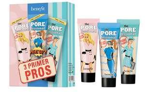 Benefit up to Half Price Sale e.g. 3 Primer Pros £15.60