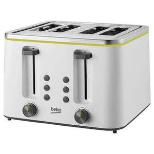 Beko TAM4341W 4 Slice Toaster in White £15.94 +£6.99 delivery @ Sonic Direct
