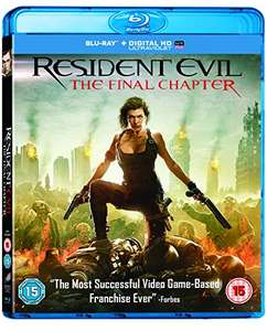 Resident Evil: The Final Chapter [Blu-ray + Digital Edition] £1.90 (+£2.99 non-prime) @ Amazon