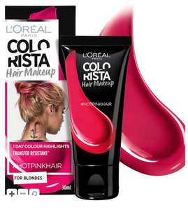 Colourista temporary bright hair dye £2 + £1.50 click and collect in Boots