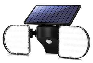 OUSFOT Solar Lights Outdoor 56 LED Flood Lights Motion Sensor Twin Panel Security Light £13.99 with voucher Sold by ousfot & FB Amazon