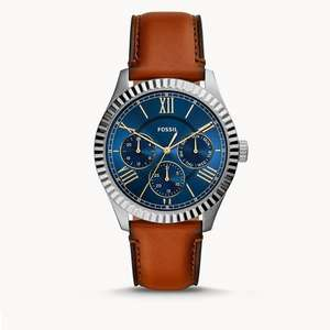 Chapman Multifunction Luggage Leather Watch - 2 styles with Free Engraving now £47.20 + Free UK mainland delivery @ Fossil