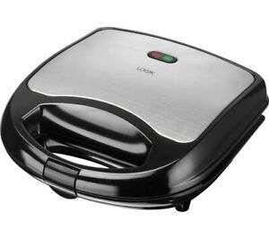 LOGIK L02SMS17 Sandwich Toaster - Black & Silver for £7.99 delivered @ eBay / Currys