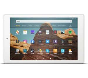 AMAZON Fire HD 10 Tablet (2019) - 32 GB White/Plum Models £89.99 at Currys PC World