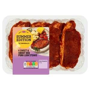 Summer Edition chilled range half price inc BBQ Pork loins x 4 £1.50 (Minimum Basket / Delivery Charge Applies) @ Sainsburys