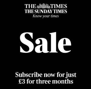 The Times/Sunday Times Digital Editions - £3 for 3 months