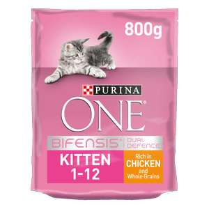 Purina One dry kitten food 800g for £5.99 - Try for free (cashback) @ Purina