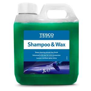 Tesco Car Shampoo 1L - £1 Clubcard Price (Min Basket / Delivery Charge Applies) at Tesco