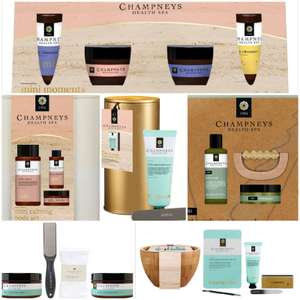 Champneys Gifts: Mini Moments / Calming Set / Work-Out Reward / Tip Toe Treats / Heavenly Hands etc From £4.25 + £1.50 C&C @ Boots