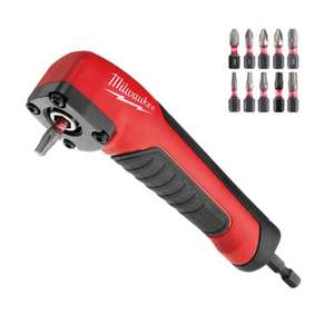 Milwaukee right angle drill attachment plus 10 screwdriver bits - £17.94 (+£4.49 Non Prime) @ Amazon