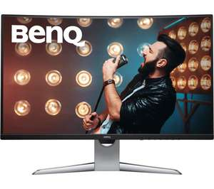 """BENQ EX3203R 32"""" Quad HD VA 144 Hz HDR Freesync Curved Monitor - Grey - £218 delivered @ Currys PC World"""