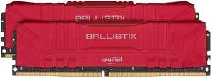 Crucial Ballistix 32GB (2x 16GB) 3000 MHz CL15 DDR4 RAM Red £119.89 @ Amazon.co.uk