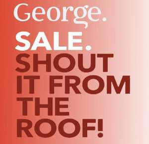 Sale on at George @ ASDA InStore and Online - Free Click & Collect / £2.95 delivery