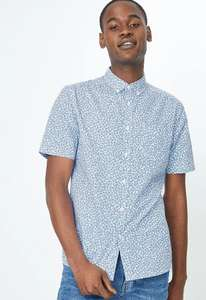 Men's Short sleeve shirts £4 @ George Free click & collect e.g White Leaf Print Short Sleeve Shirt
