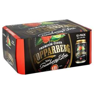 Kopparberg Strawberry & Lime Cider also Mixed Fruit flavour Cans 12 x 330ml £9.99 @ Morrisons