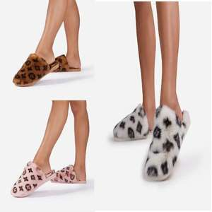Kulture Fluffy Printed Flat Slipper £5.09 with code 3 colours to choose from + (£2.99 Delivery) From Ego
