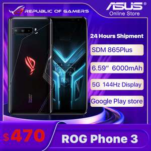 ASUS ROG 3 5G Gaming Smartphone Global ROM Snapdragon 865 Plus 8GB 128GB 6.59 inch £338.45 delivered @ Ali Express / Asus Store Online