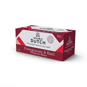 Double Dutch pomegranate and basil tonic water 150ml Cans (Pack of 8) £2.70 prime / £7.19 non prime @ Amazon