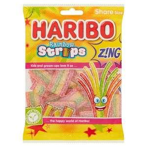 Haribo Rainbow Strips Z!ng Bag - Pack of 12 x 130G £4.35 Prime at Amazon (+£3.49 non Prime)