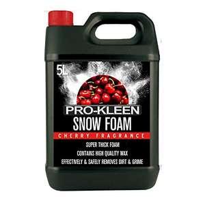 5L of Pro-Kleen Cherry Snow Foam with Wax £10.30 Amazon Prime (+£4.49 Non Prime)