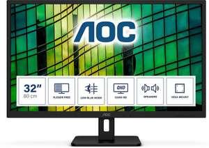 "AOC Q32E2N 31.5"" QHD IPS Adaptive-Sync 75Hz Vesa Speakers Monitor, £159.97 at Laptops direct"